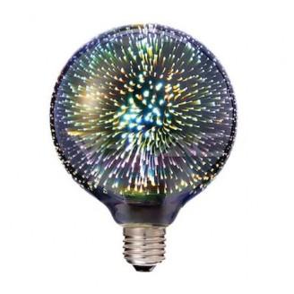 BEC LED DECO  E27 G125 3D ALBASTRU