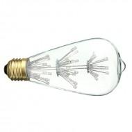 BEC LED DECO  E27 T30 5W ROSU