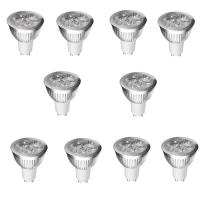 SET 10 SPOTURI LED GU10 5W ALB RECE
