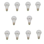 SET 10 BECURI LED E27 9W ALB RECE ECO