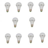 SET 10 BECURI LED E27 7W ALB RECE ECO