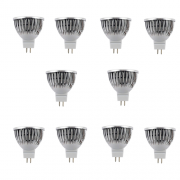 SET 10 SPOTURI LED MR16 3W ALB RECE
